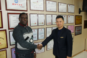 Nigerian customer visited our company
